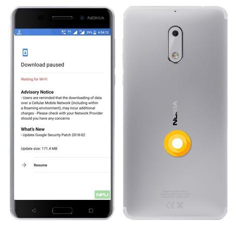 Nokia 6 February 2018 OTA Update