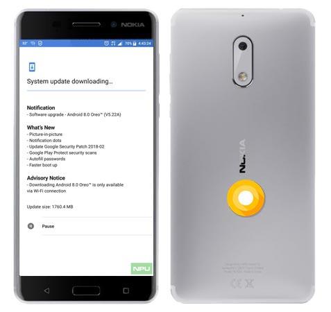 Nokia 6 TA-1033 Oreo OTA 8.0 Official Update