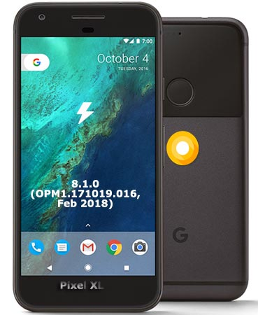 Google Pixel XL OPM1.171019.016 Oreo 8.1 Firmware Official