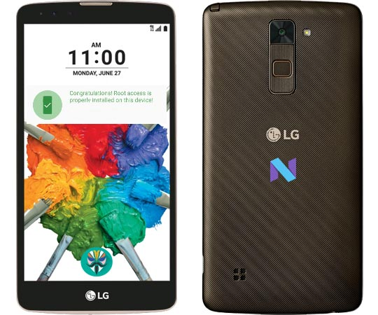 Root LG Stylo 2 Plus Nougat Install TWRP