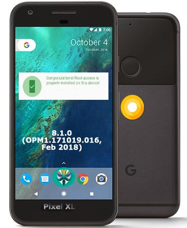 Root Google Pixel Oreo 8.1 OPM1.171019.016 Install TWRP