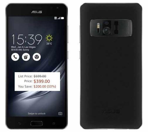Asus Zenfone AR March 2018 Deal For USD 399