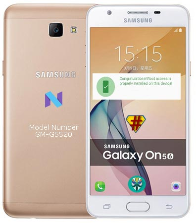 Root Samsung Galaxy On5 2016 SM-G5520 Nougat 7.1.1 Install TWRP