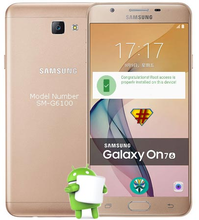 Root Samsung Galaxy On7 2016 SM-G6100 Marshmallow 6.0.1 Install TWRP