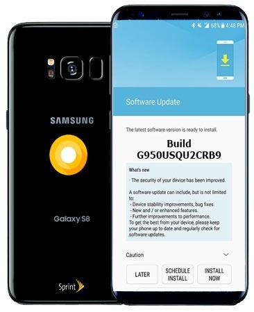 Samsung Galaxy S8 Sprint SM-G950U Oreo Official OTA G950USQU2CRB9