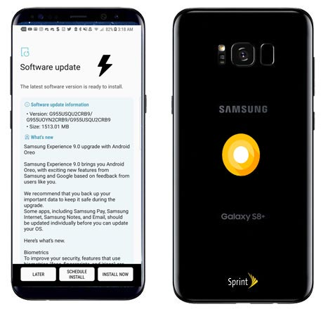 Samsung Galaxy S8 Plus Sprint SM-G955U Oreo Official Firmware