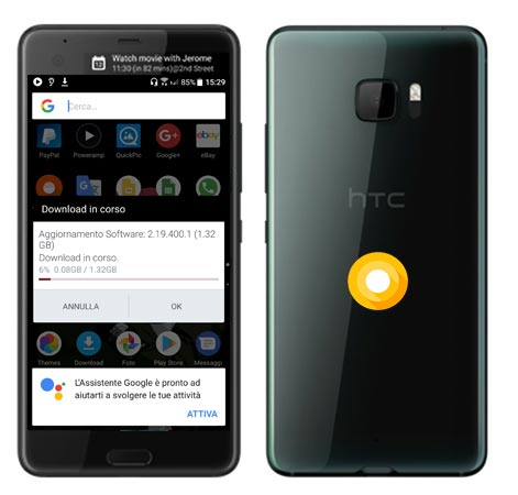 HTC U Ultra Oreo OTA Update 2.19.400
