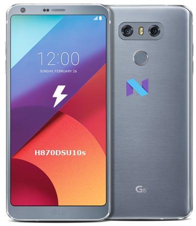 LG G6 H870DSU10s March 2018 Nougat Firmware