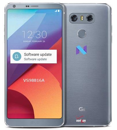 LG G6 Verizon March 2018 OTA VS98816A Update