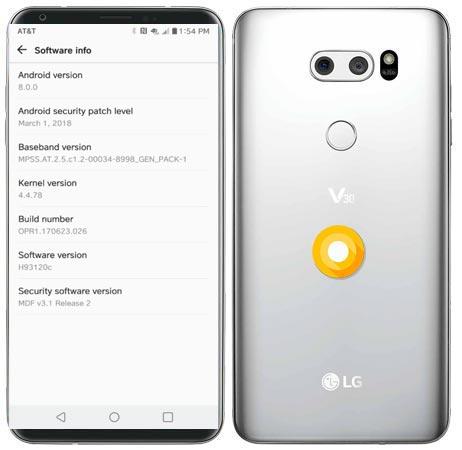 LG V30 AT&T Oreo OTA Update OPR1.170623.026