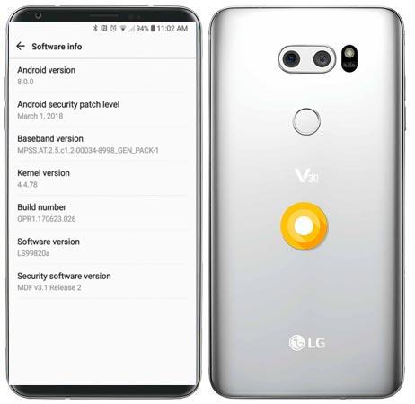 LG V30 Sprint Oreo OTA Update OPR1.170623.026