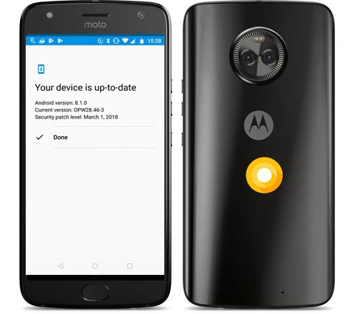 Moto X4 Android One Oreo Official OTA 8.1 OPW.28.46-3 Update