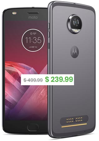 Moto Z2 Play Daily Steals Deal USD 240