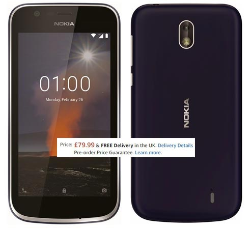 Nokia 1 Pre-Order Amazon UK GBP 80