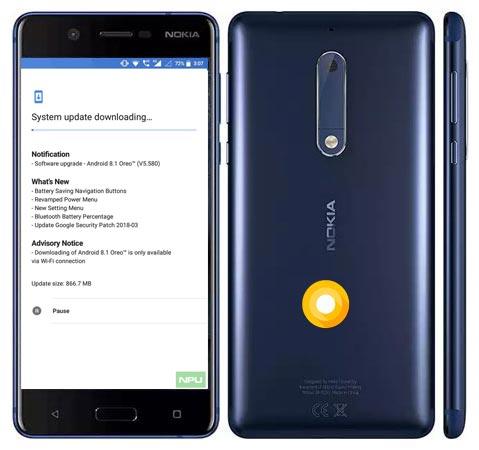 Nokia 5 Oreo OTA 8.1 Official Update