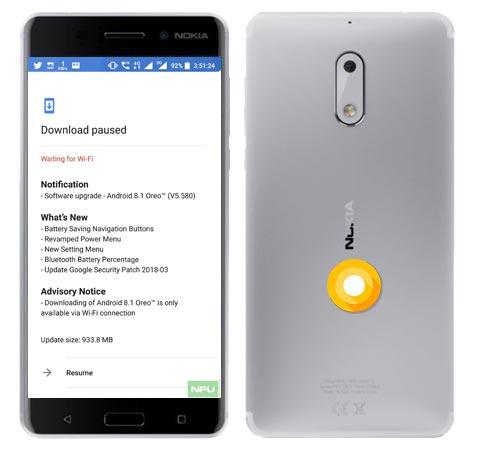 Nokia 6 Oreo OTA 8.1 Official Update