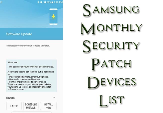Samsung Galaxy Monthly Security Patch Getting Devices List