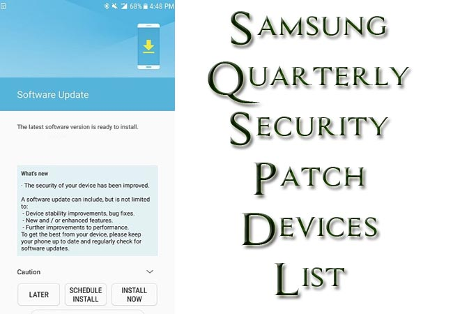 Samsung Galaxy Quarterly Security Patch Getting Devices List