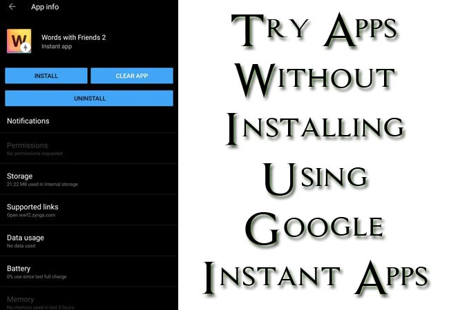 Try Android Apps Without Installing Using Google Instant Apps