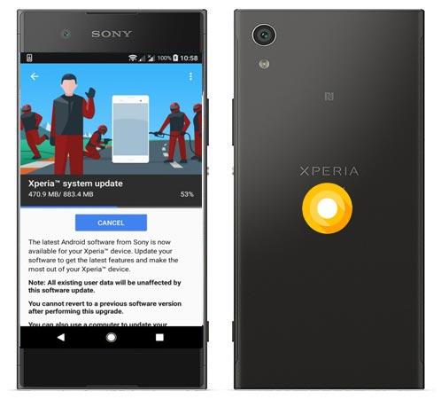Sony Xperia XA1 Oreo OTA Update