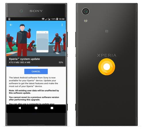 Sony Xperia XA1 Plus Oreo OTA Update