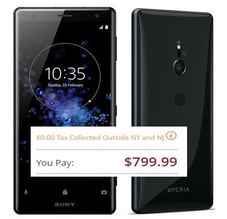 Sony Xperia XZ2 Pre-Order US USD 799