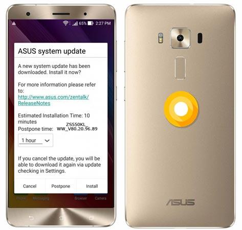 Asus ZenFone 3 Deluxe Oreo OTA Update Official