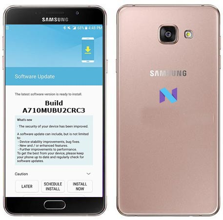 Samsung Galaxy A7 2016 SM-A710M April 2018 OTA A710MUBS4CRD1