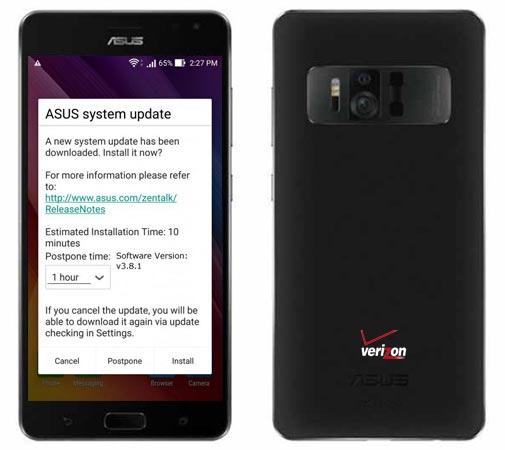 Asus ZenFone AR Verizon Wireless USA April 2018 OTA v3.8.1
