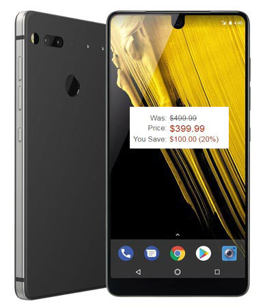Essential PH-1 Amazon Deal USD 399