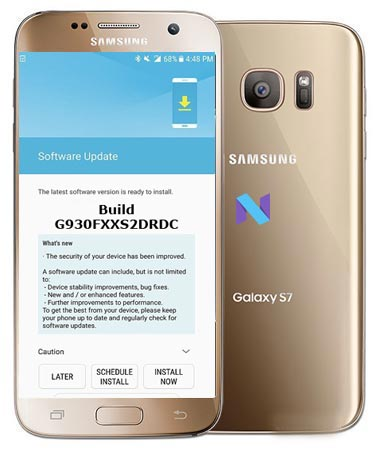 Samsung Galaxy S7 Unlocked SM-G930F April 2018 OTA G930FXXS2DRDC