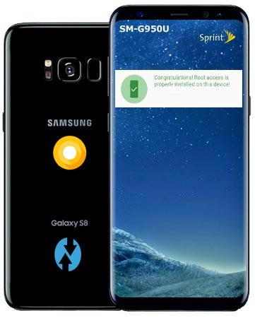 Root Samsung Galaxy S8 Sprint USA SM-G950U Oreo Install TWRP