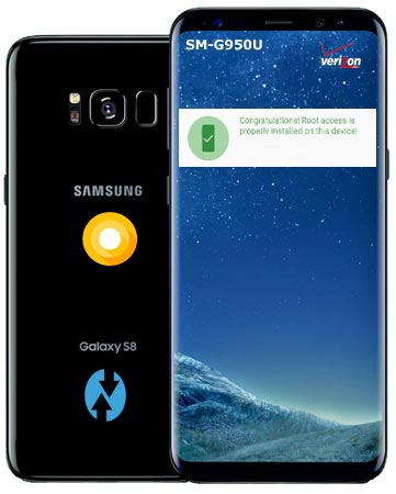 Root Samsung Galaxy S8 Verizon Wireless USA SM-G950U Oreo Install TWRP