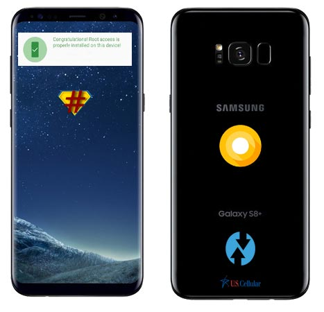 Root Samsung Galaxy S8 Plus US-Cellular SM-G955U Oreo Install TWRP
