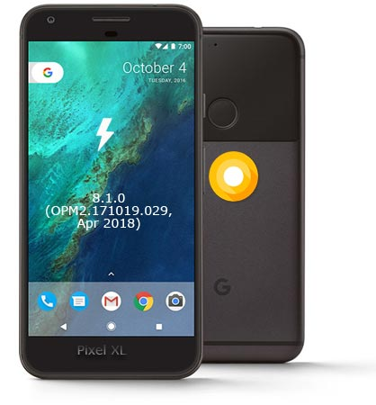 Google Pixel XL OPM2.171019.029 Oreo 8.1 Firmware Official
