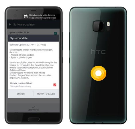 HTC U Ultra Europe Oreo OTA Update 2.21.401.1