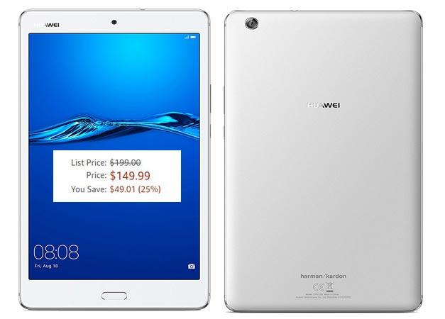 Huawei MediaPad M3 Lite Amazon Deal USD 150