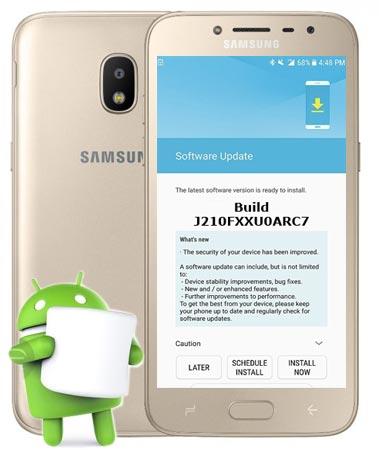 Samsung Galaxy J2 Pro SM-GJ210F April 2018 Official OTA J210FXXU0ARC7