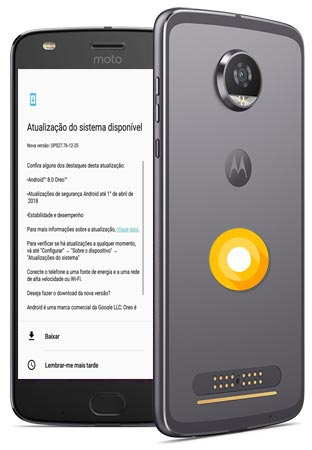 Moto Z2 Play Europe Oreo Official OTA 8.0 Update OPS27.76-12-25