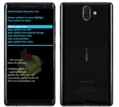 Nokia 8 Sirocco Modes and Respective Keys