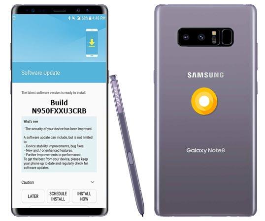 Samsung Galaxy Note 8 UK SM-N950F Oreo Official OTA N950FXXU3CRB