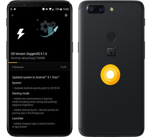 OnePlus 5T OxygenOS 5.1.0 Oreo Official ROM