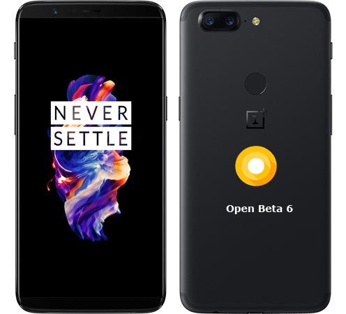 OnePlus 5T OxygenOS Open Beta 6 ROM