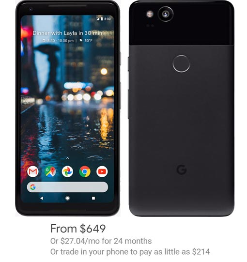 Google Pixel 2 Pixel 2 XL Project Fi Deal Offer Up to USD 150