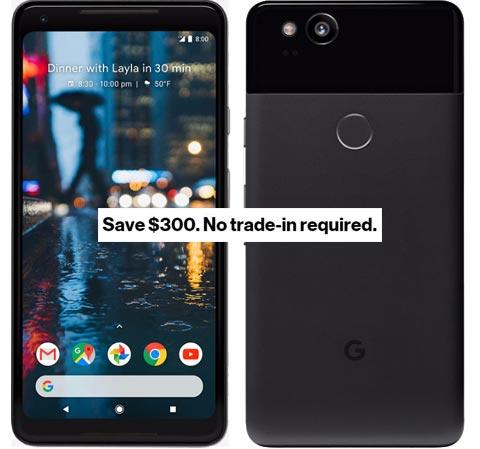 Google Pixel 2 XL Verizon Wireless USA Deal USD 550