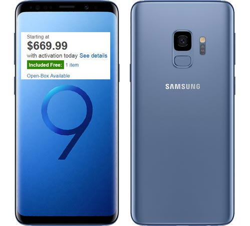 Samsung Galaxy S9 Best Buy Deal USD 669 Free SmartThings Home Monitoring Kit USD 225