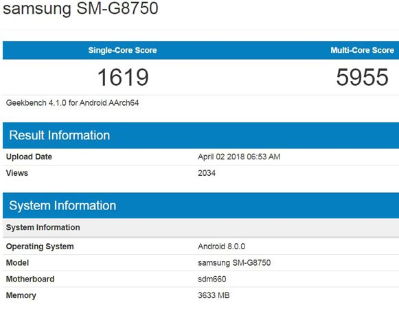 Samsung Galaxy S9 Plus Mini Appears Geekbench Android