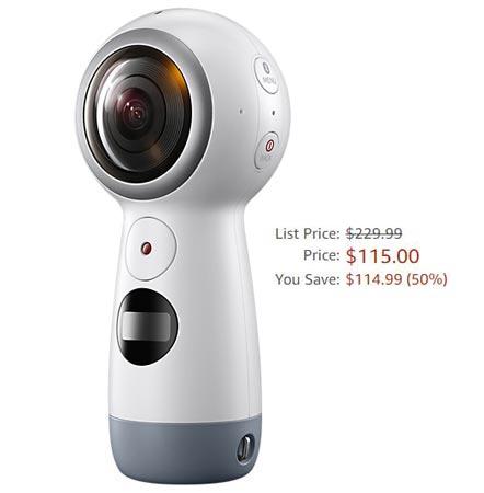 Samsung Gear 360 Amazon Deal USD 115