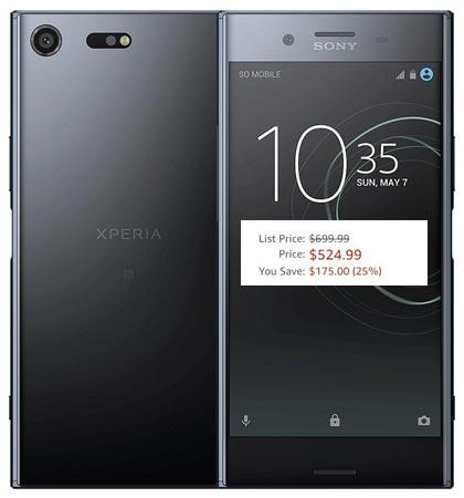 Sony Xperia XZ Premium Amazon Deal USD 525
