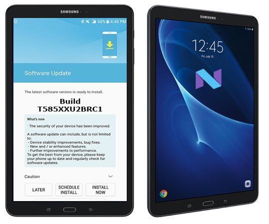 Samsung Galaxy Tab A 10.1 2016 LTE SM-T585 April 2018 OTA T585XXU2BRC1